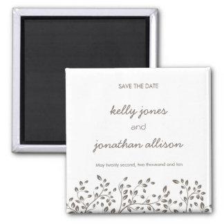 Elegant Save the Date Wedding Magnet