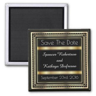 "Elegant ""Save the Date"" Wedding Square Magnet"