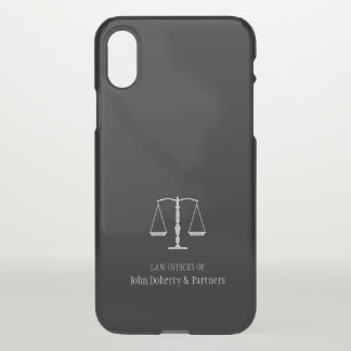 Elegant Scales of Justice | Lawyer iPhone X Case