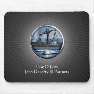 Elegant Scales of Justice Mouse Pad