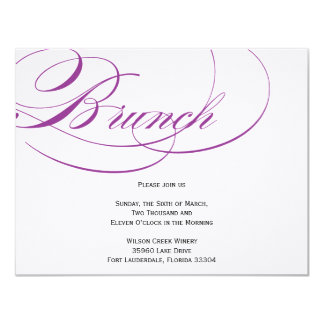 Elegant Script Brunch Invitation - Purple