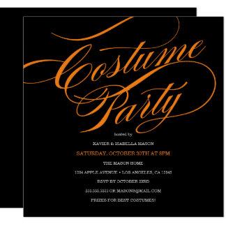 Elegant Script Costume Party Invitation