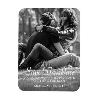 Elegant Script | Custom Photo Save the Date Magnet