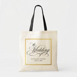 Elegant Script Flourishes Personalized Wedding