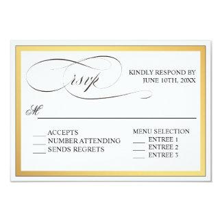 Elegant Script Flourishes Wedding RSVP Card