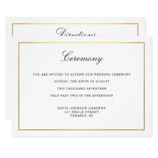 Elegant Script Gold and Border Enclosure Card