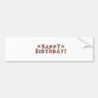 Elegant script: HAPPY BIRTHDAY Car Bumper Sticker