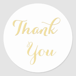 Elegant Script Party Favor Round Thank You Sticker