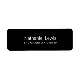Elegant Script Plain Black Customize Text Return Address Label