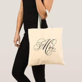"Elegant Script Typography ""Future Mrs"" Tote Bag"