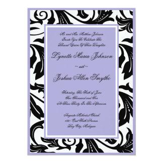Elegant Scroll Lavender Wedding Invitations