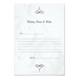 Elegant Scroll Wedding Advice Cards