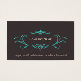 Elegant Scrolls Business Card