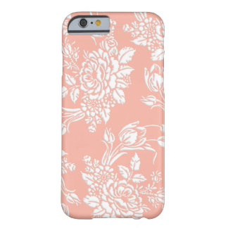 Elegant Sculpted White Roses and Tulips Barely There iPhone 6 Case