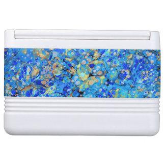 Elegant sea blue beautiful pattern cooler