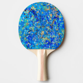 Elegant sea blue beautiful pattern with lace ping pong paddle