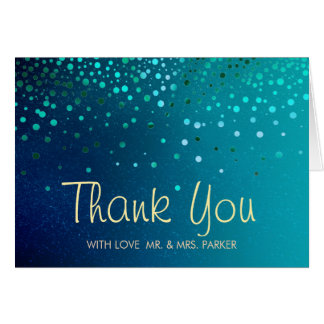 Elegant Sea Green Clouds Thank You Greeting Card