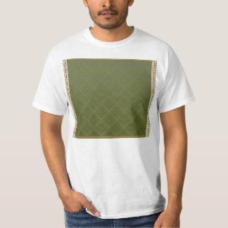 Elegant sea green damask tshirt