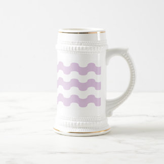 Elegant sea of strips waved in lilac coffee mugs