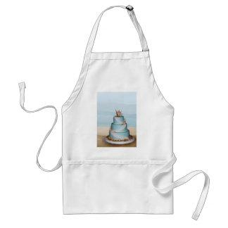 Elegant Sea Shell Wedding cake Adult Apron