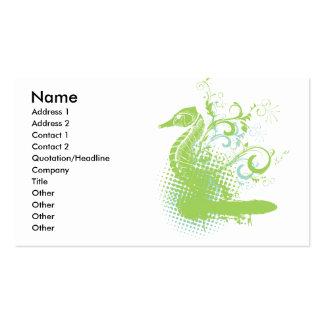elegant seahorse business cards