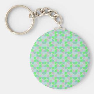 Elegant Seamless Pattern Basic Round Button Key Ring