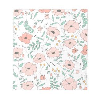 Elegant seamless pattern with flowers, vector illu notepad