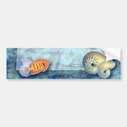 Elegant Seashells Beach Wedding savethedate Bumper Sticker