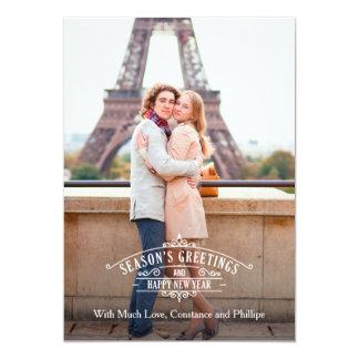 Elegant Season's Greetings Photo Card Groupon 13 Cm X 18 Cm Invitation Card