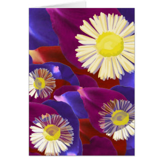 Elegant Sensual Rose Petal Art Card