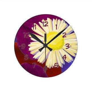 Elegant Sensual Rose Petal Art Clocks