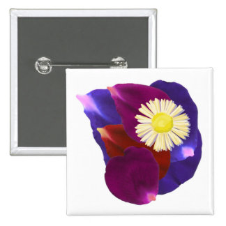Elegant Sensual Rose Petal Art Pinback Buttons