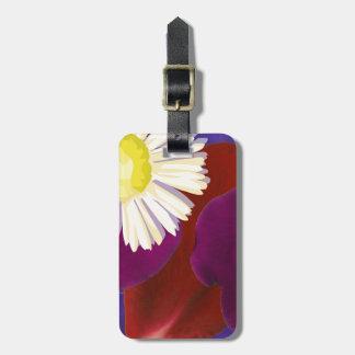 Elegant Sensual Rose Petal Art Tag For Luggage