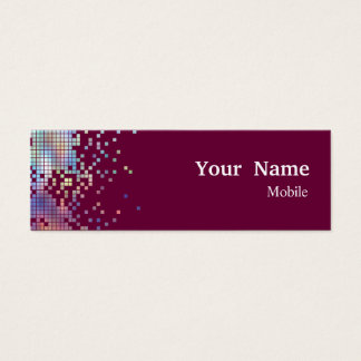 Elegant Sequins Hologram Mini Business Card