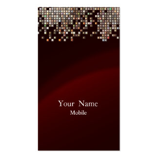 Elegant Sequins Maroon Business Card Templates