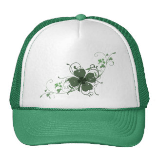 Elegant Shamrock Design Cap