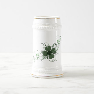 Elegant Shamrock Design Coffee Mugs