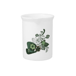 Elegant Shamrock Hat Pitcher
