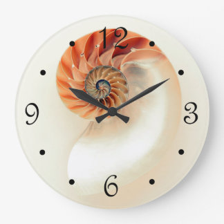 Elegant Shell Large Clock
