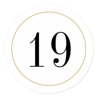 Elegant Shimmer Gold Circle Table Number Card