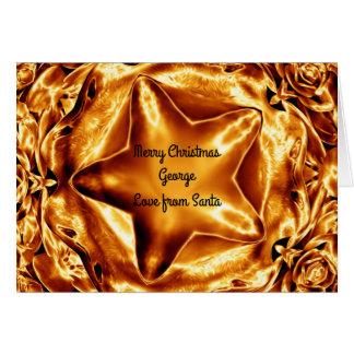 Elegant Shiny Chic Golden Copper Star Card