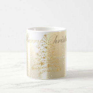 Elegant Shiny,Faux Gold Christmas Tree Coffee Mug