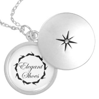 Elegant shoes silver plated necklace