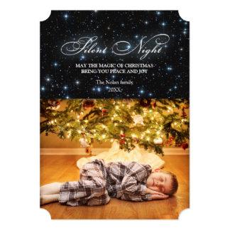 Elegant Silent Night Christmas Card 13 Cm X 18 Cm Invitation Card