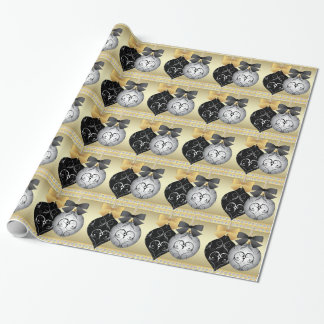 Elegant Silver Black and Gold Christmas Wrapping