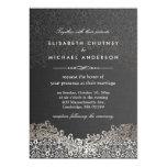 Elegant Silver Damask - Classic Formal Wedding 13 Cm X 18 Cm Invitation Card