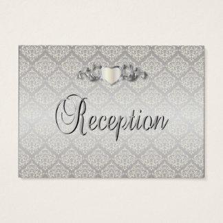 Elegant Silver Damask Style Wedding 1