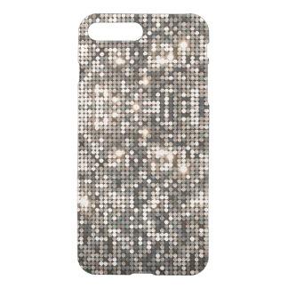 Elegant Silver Disco Glitter &  Background iPhone 8 Plus/7 Plus Case