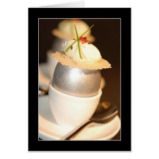 Elegant Silver Egg Card