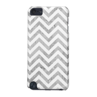 Elegant Silver Foil Zigzag Stripes Chevron Pattern iPod Touch (5th Generation) Case